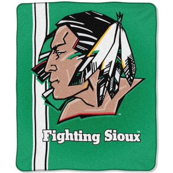 North Dakota Fighting Sioux College Jersey 50 x 60 Raschel Throw 600x600