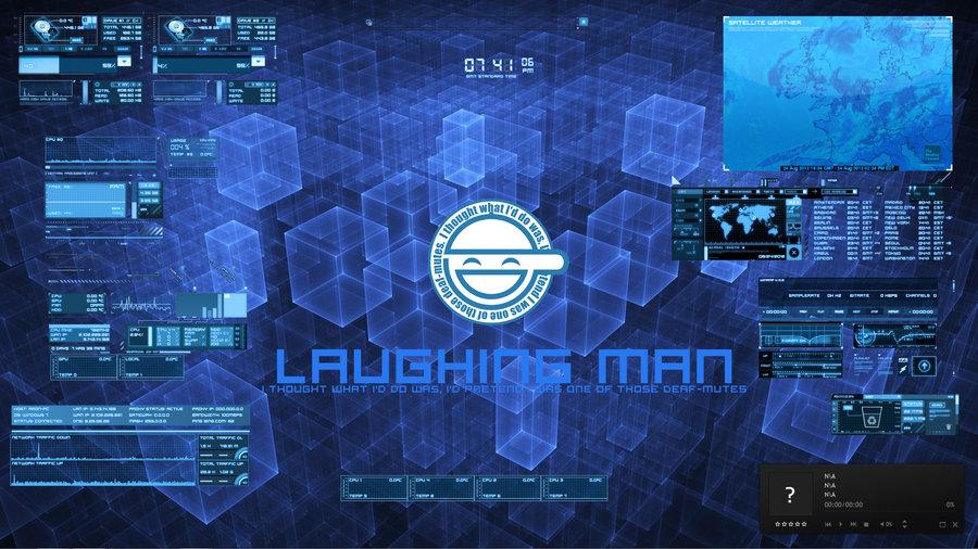Custom Laughing man desktop by agedwards 900x506