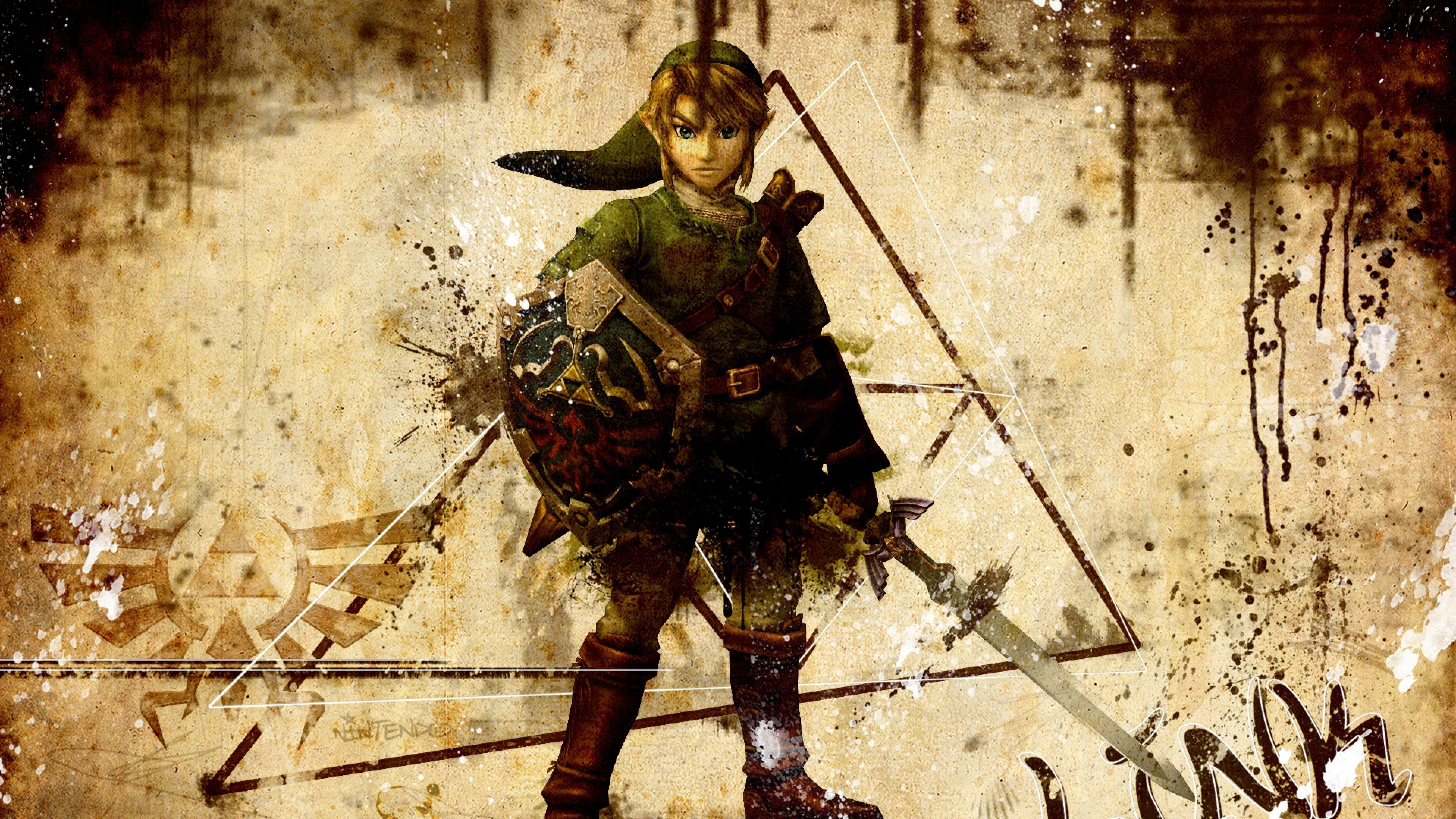of zelda character arm sword look zelda 4K Ultra HD HD Background 3840x2160