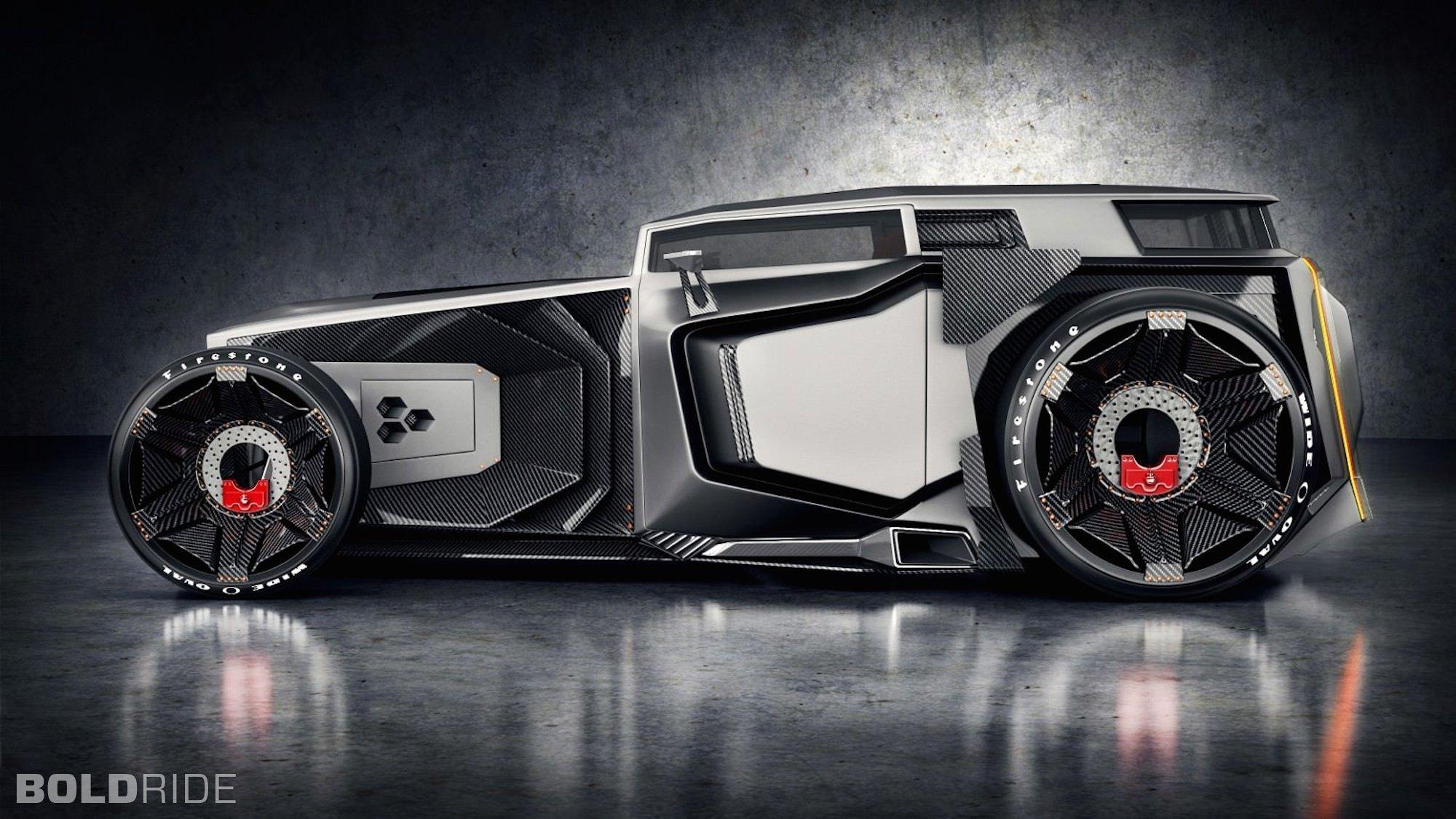 Lamborghini Rat Rod Concept hor rods muscle supercar 5 wallpaper 2000x1125