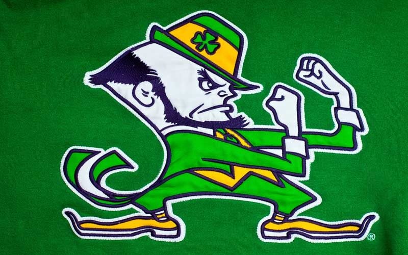 Pin Notre Dame Fighting Irish Logo 800x500