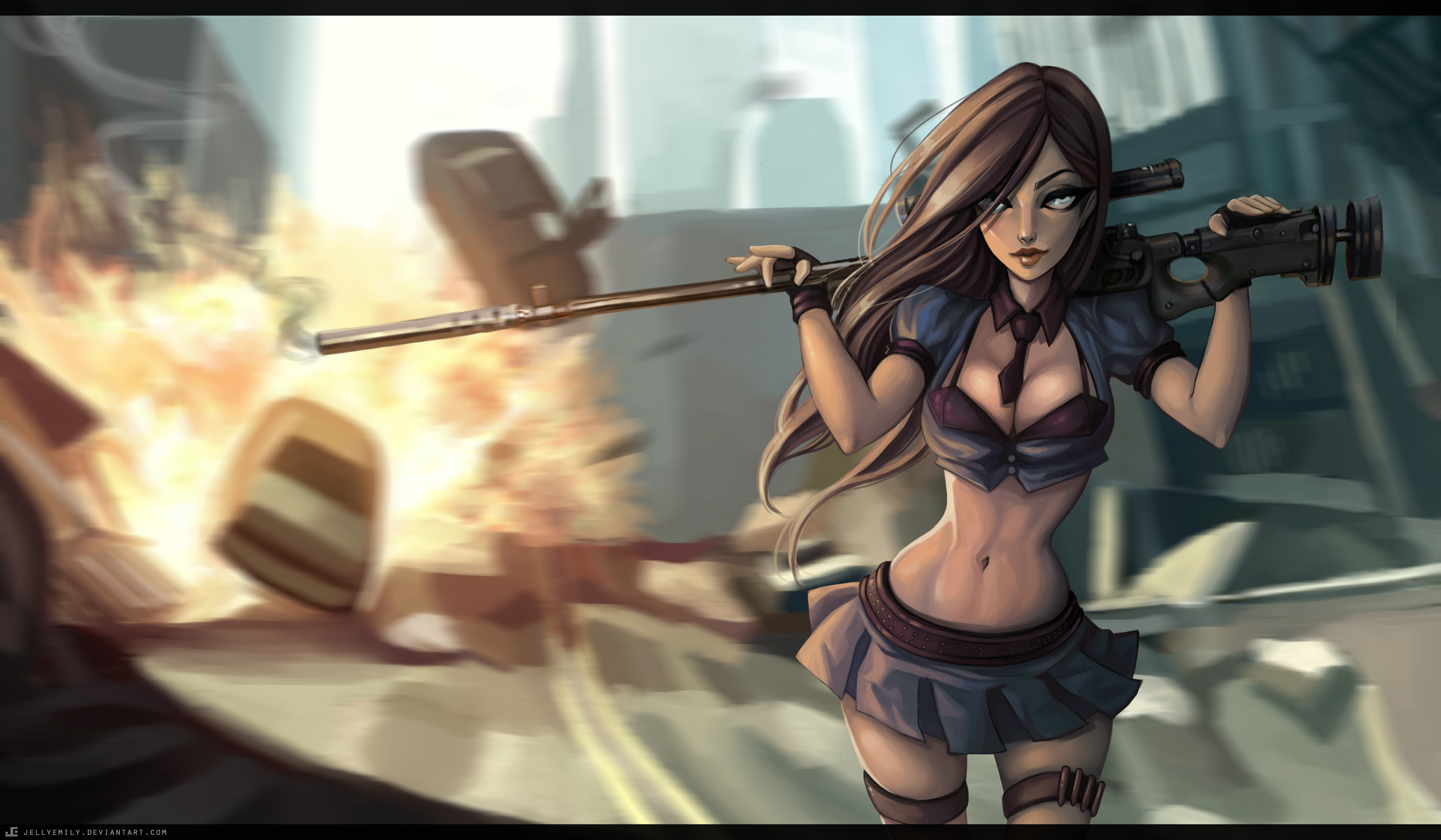 Free Download Caitlyn Lol Wallpapers 7200x4200 For Your Desktop