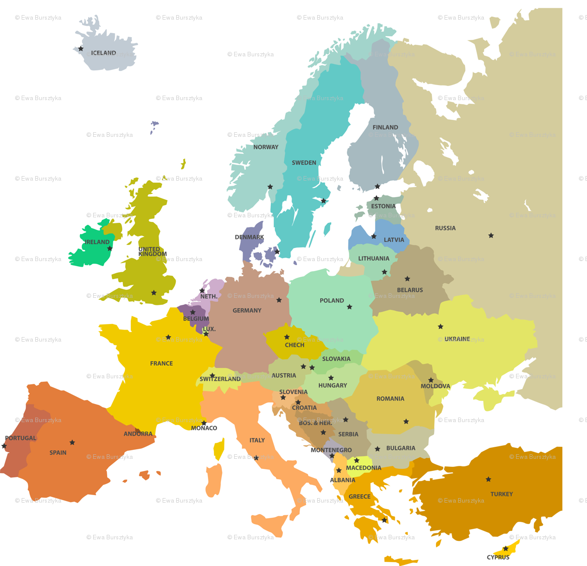 Desktop Wallpaper World Map: Map Of Europe Wallpaper