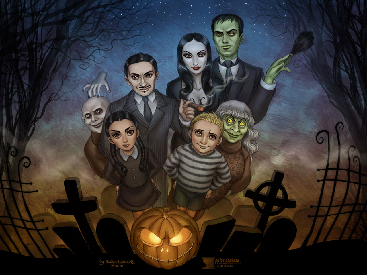 Wallpapers   The Addams Family Drawn wallpaper 1280x960