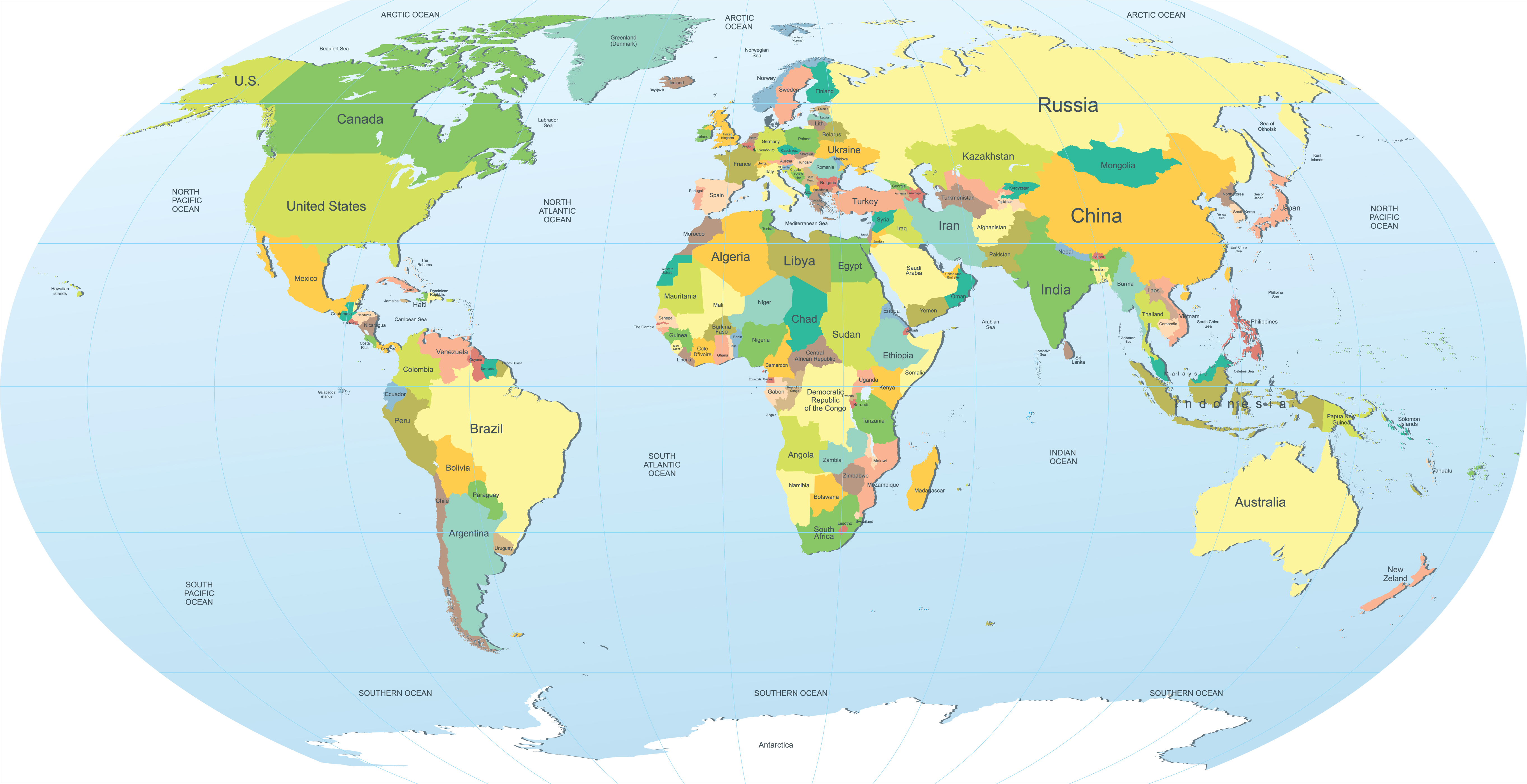 map of the world wallpaper 5451x2800