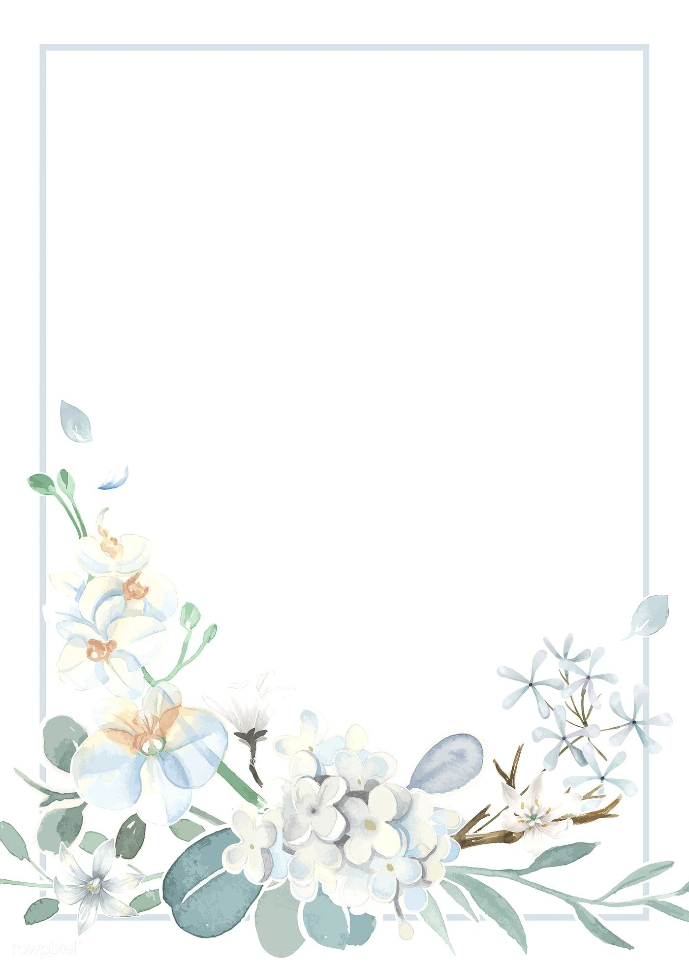 Download premium vector of Invitation card with a light blue theme 1400x1960