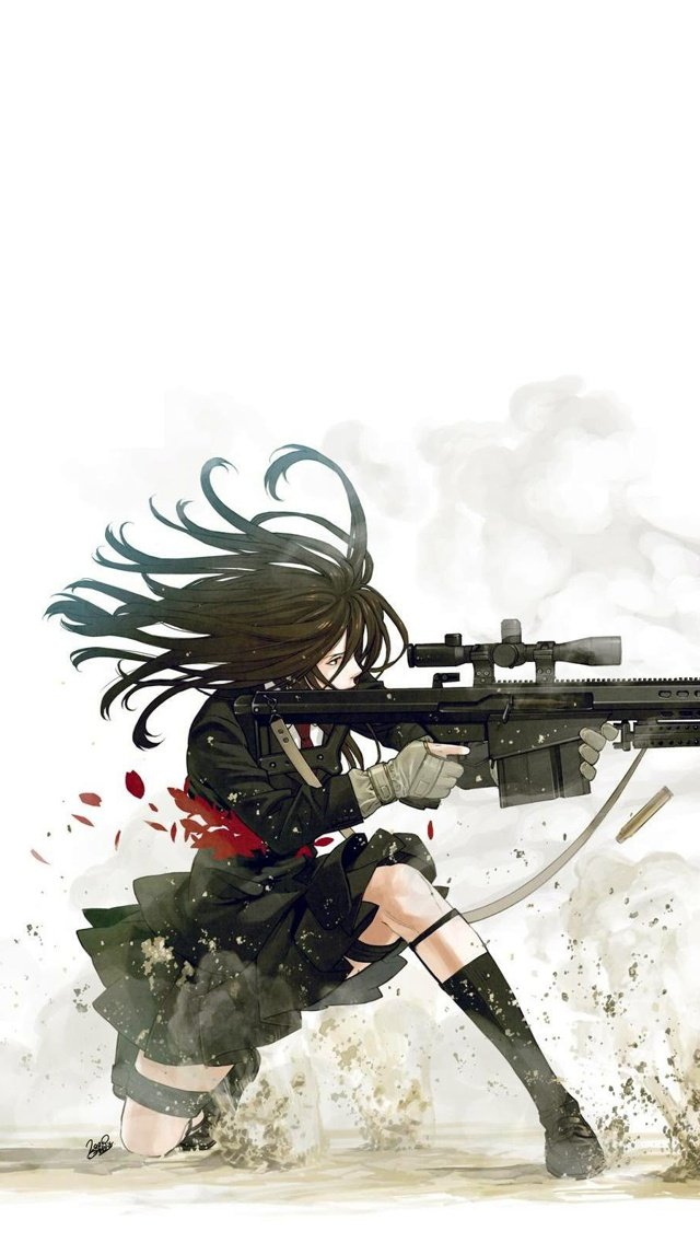 Anime sniper iPhone 5 Wallpaper 640x1136 640x1136