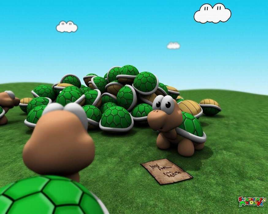 Download mobile wallpaper Cartoon Animals Turtles 24604 875x700