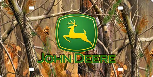 Camo John Deere Logo Background John deere logo on camo plate 596x300