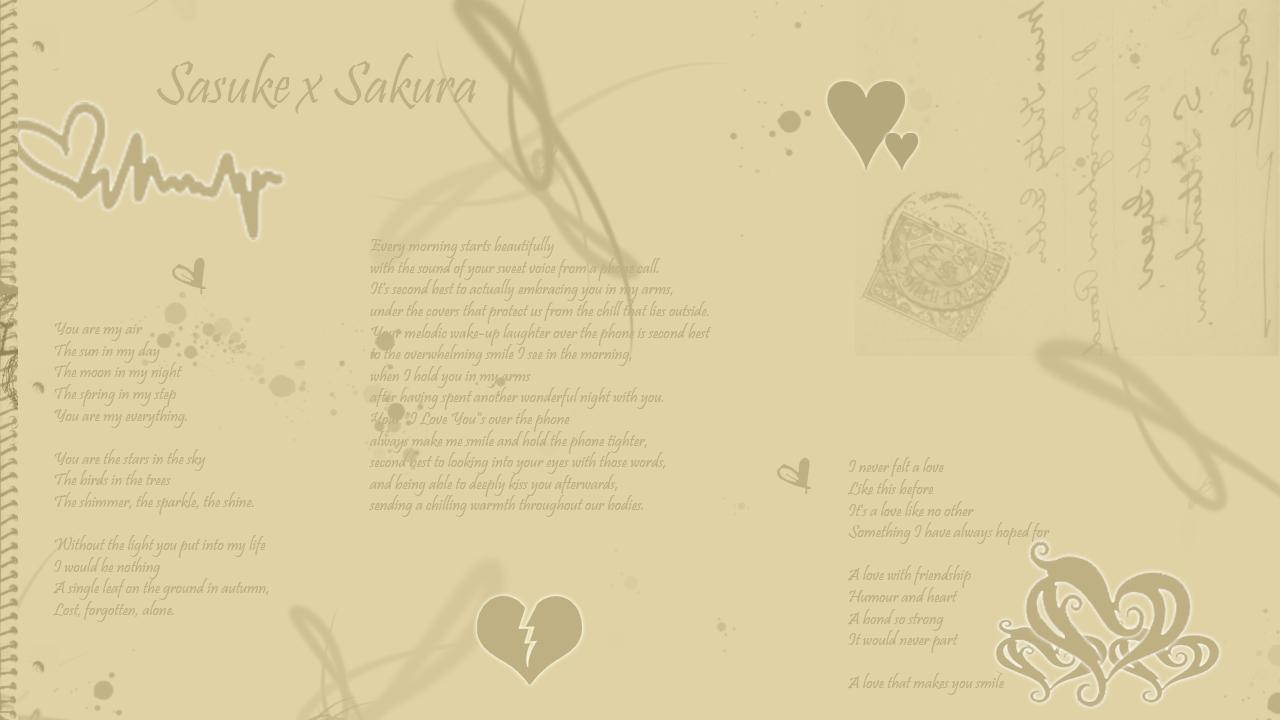 SakuxSasu Love Letter Wallpaper Photo by XDSasukeUchiha Photobucket 1280x720
