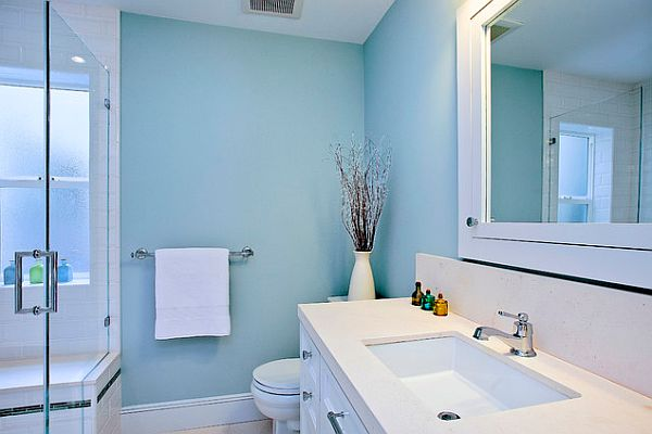 Blue Bathroom Wallpaper, Light Blue Bathroom Accessories
