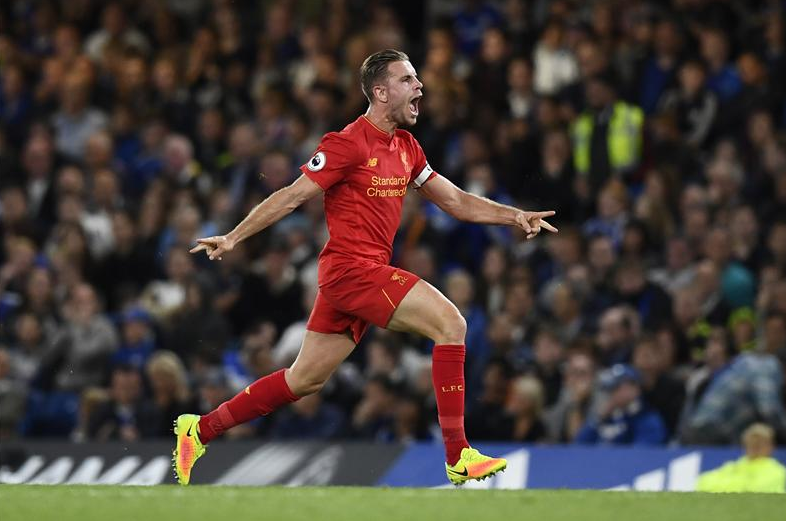 Liverpool captain Jordan Henderson wins Goal of the Month 786x521