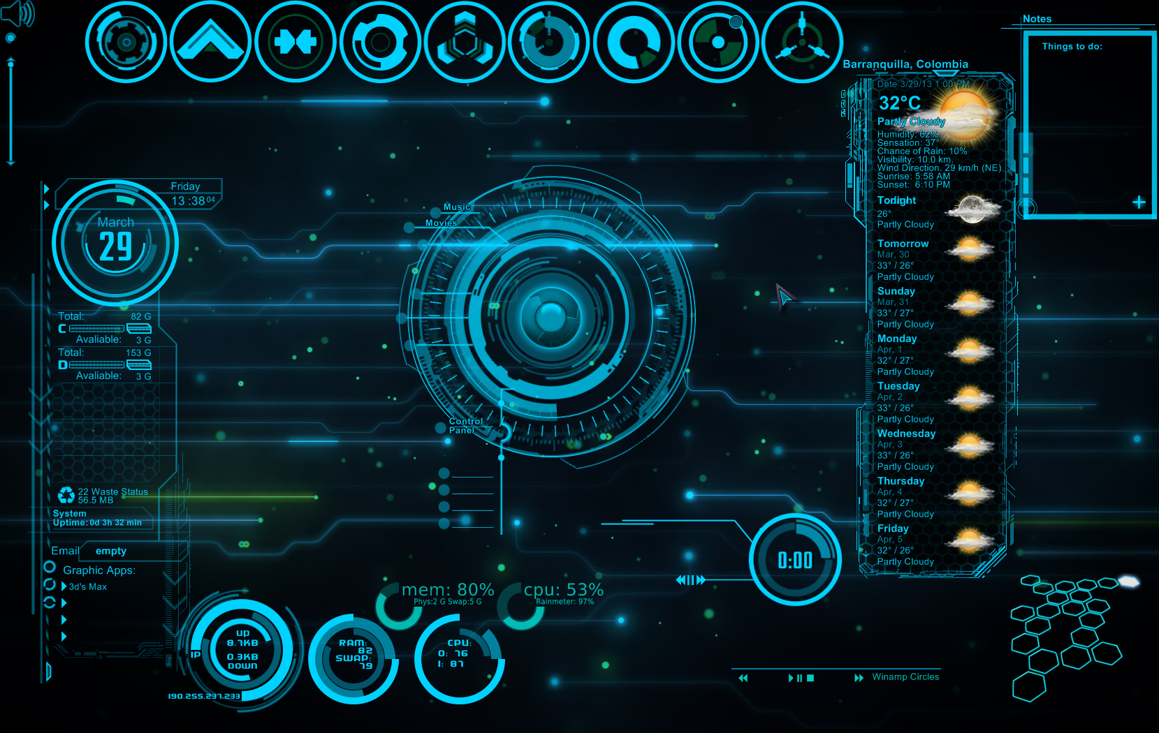 Jarvis iron man wallpaper hd wallpapersafari for Deviantart rainmeter