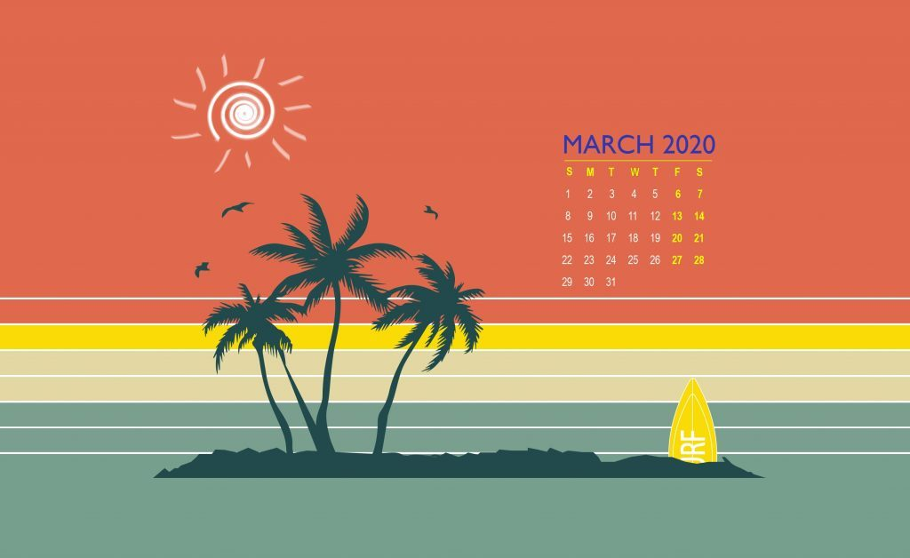 March 2020 Calendar Wallpaper For Desktop Laptop iPhone 1024x628