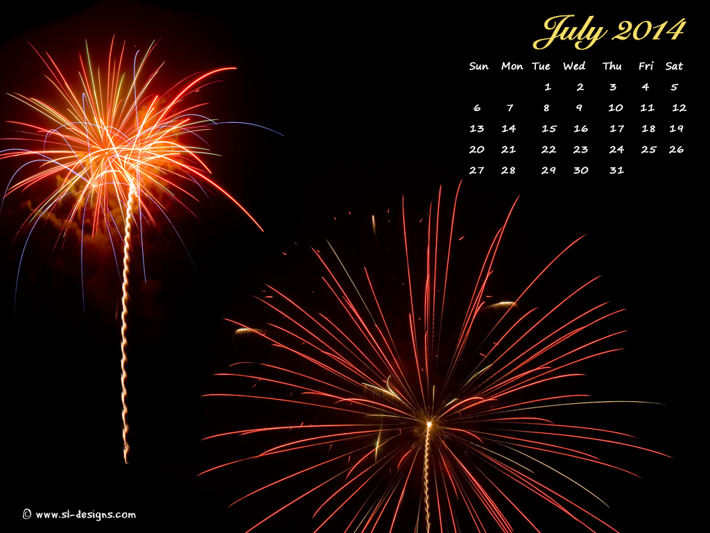 Download July calendar wallpaper for your desktop web site email or 1024x768