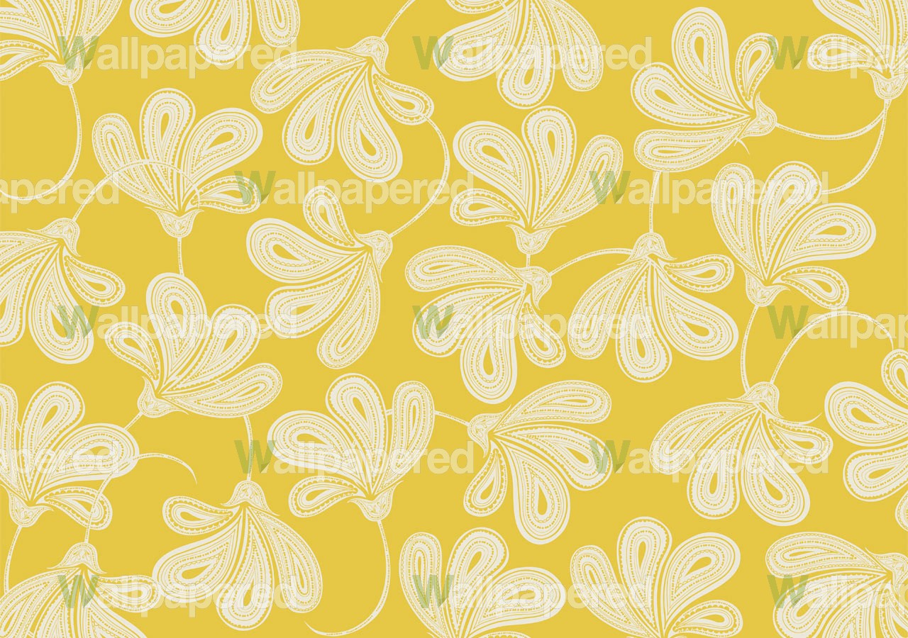 large yellow floral mural 1280x900