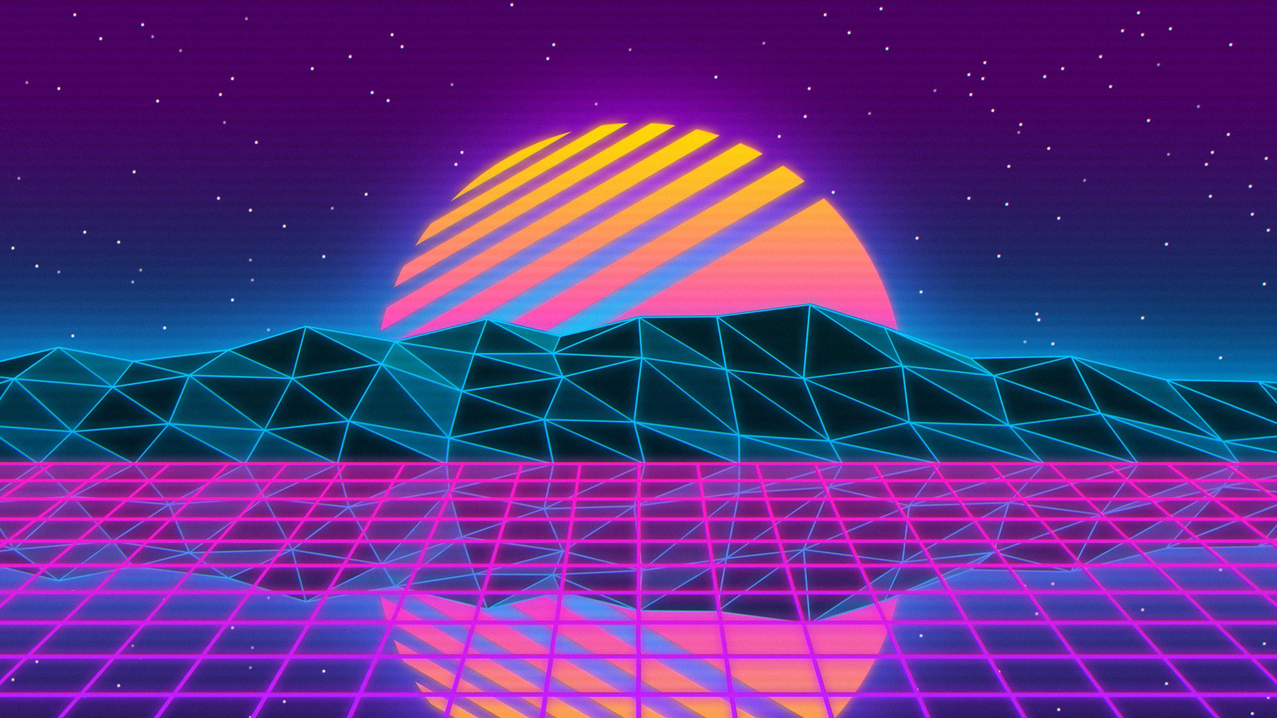 Vaporwave style wallpaper [25601440] wallpapers 2560x1440