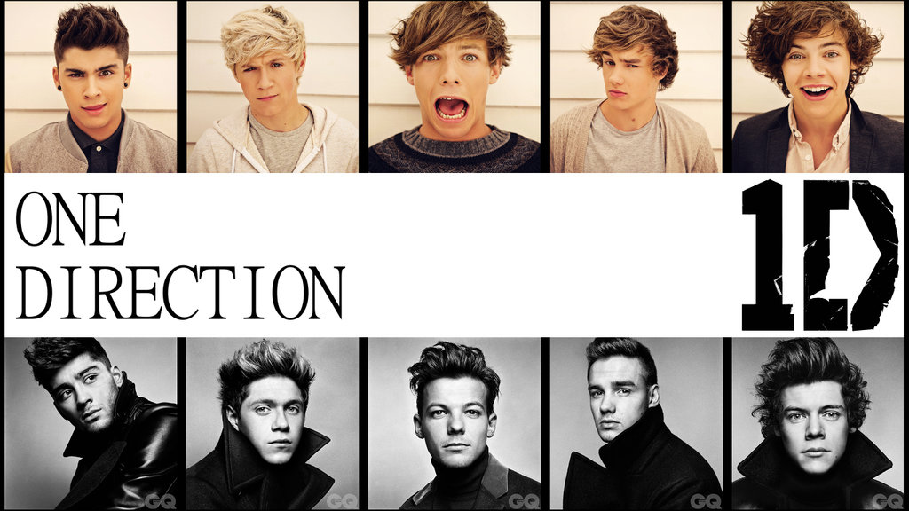 One Direction Wallpaper Film Strips with Logo by onedirectionwalls on 1024x576