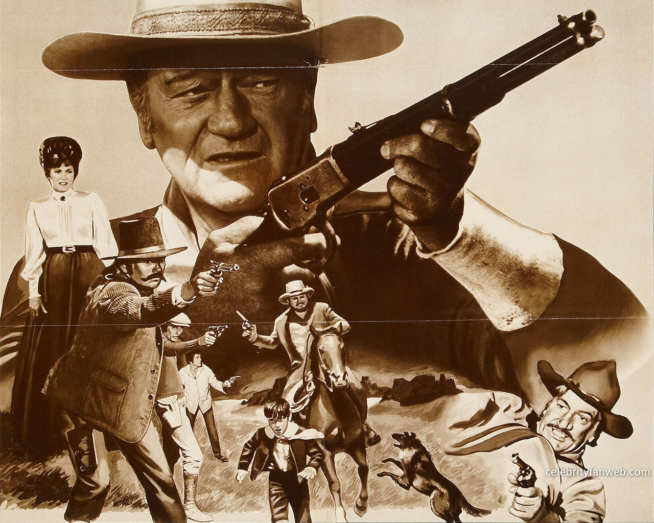 John Wayne Wallpapers and Background Images   stmednet 1280x1024