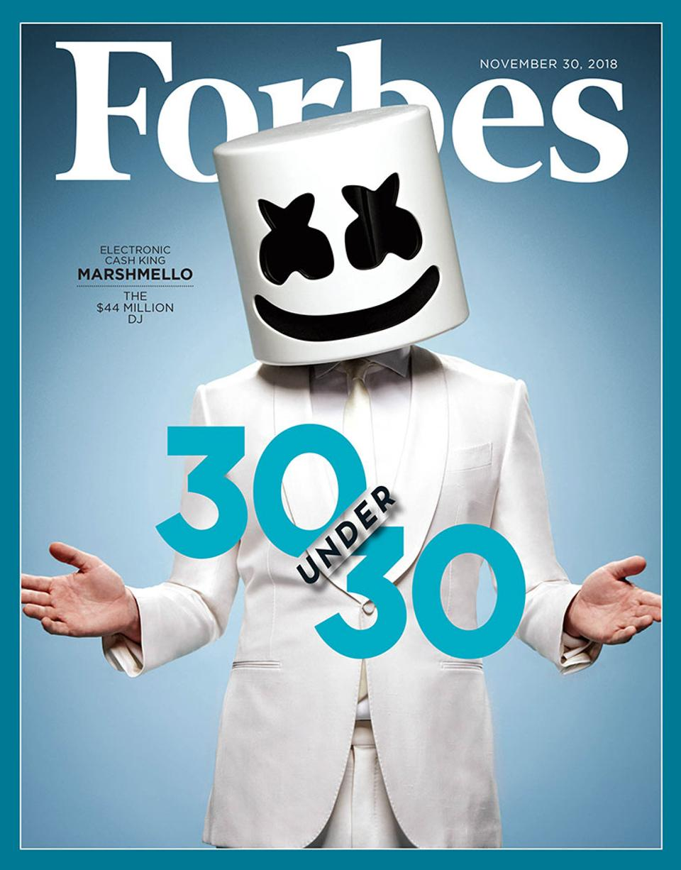 Forbes 30 Under 30 Cover Story How Marshmello Became A 44 Million DJ 960x1226