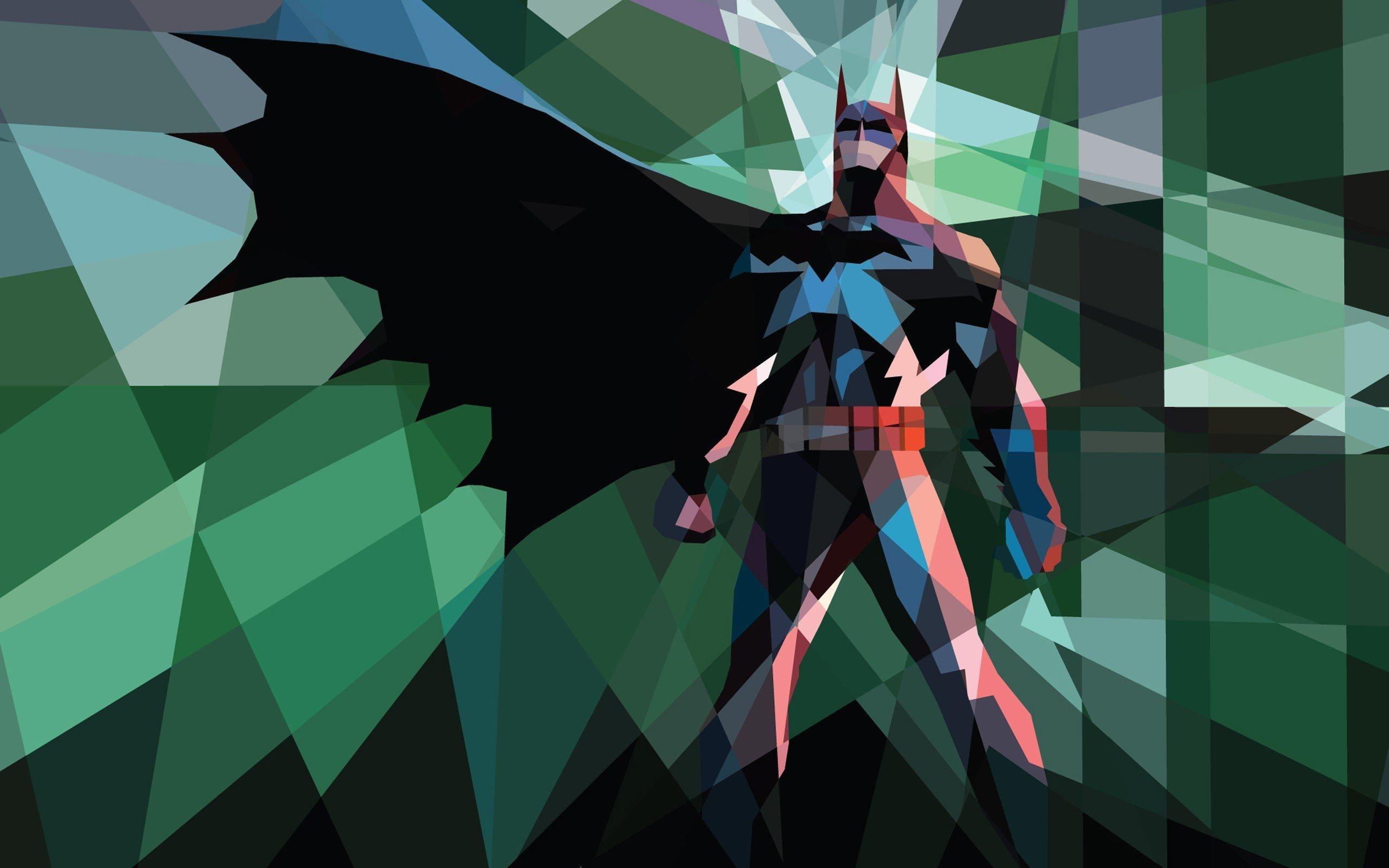 Polygon Batman wallpaper 15388 2560x1600
