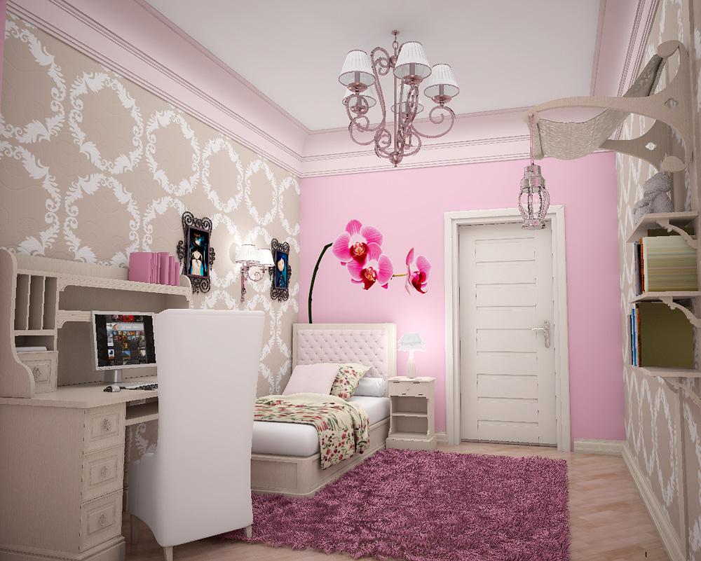 Pink Wallpaper Bedroom Pink Wallpaper For Girls Room Wallpapersafari