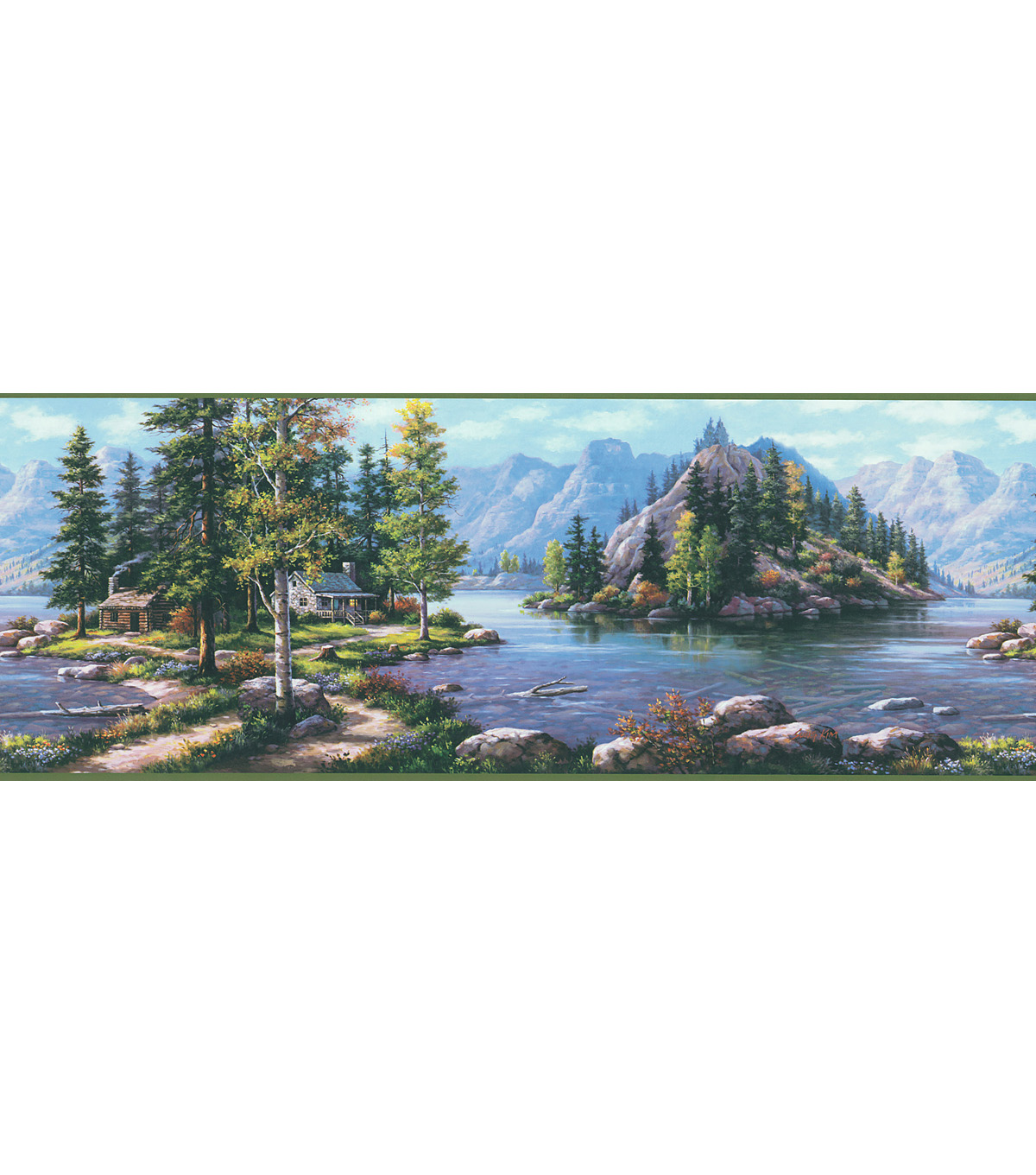 Bunyan Blue Mountain Cabin Wallpaper Border Jo Ann 1200x1360