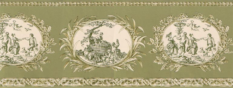Details about FRENCH COUNTRY LIFE TOILE wallpaper border CH77649 770x292