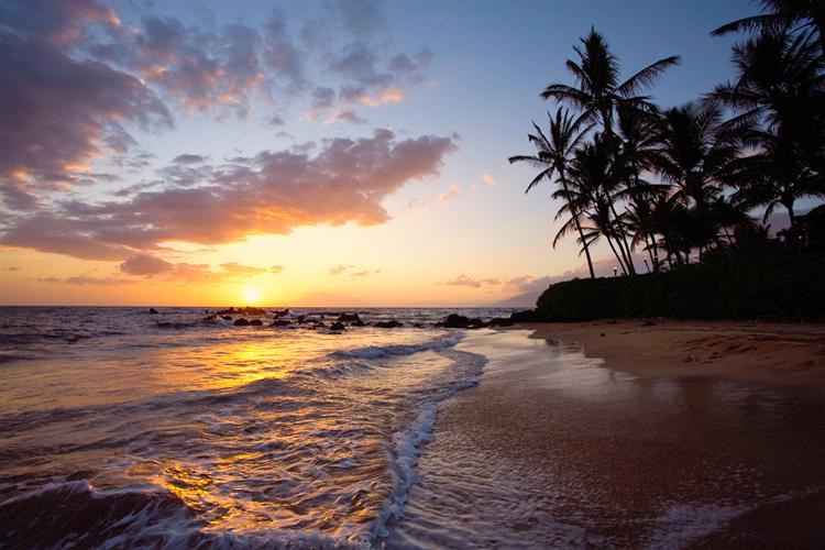 Sunset Hawaii Beach Wallpapers - WallpaperSafari
