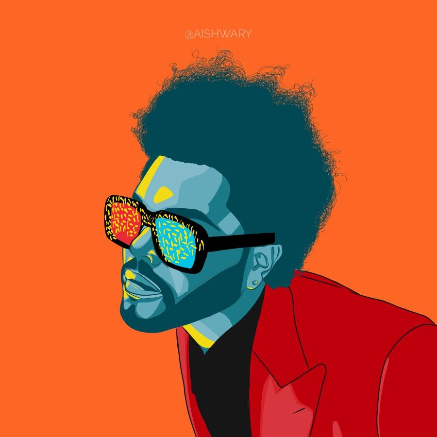 The weeknd vector Illustration wallpaper after hours The weeknd 900x900