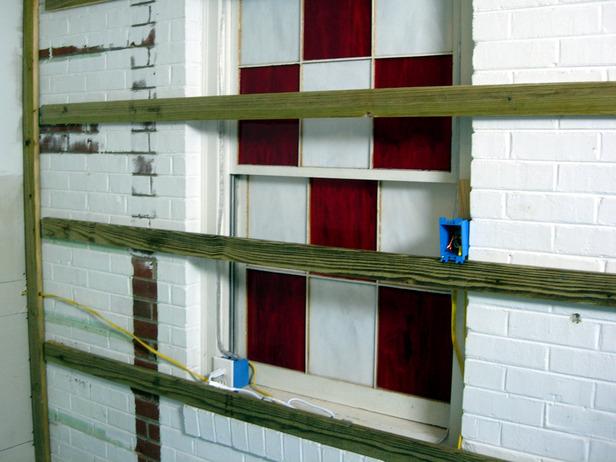 Drywall Over Brick 616x462