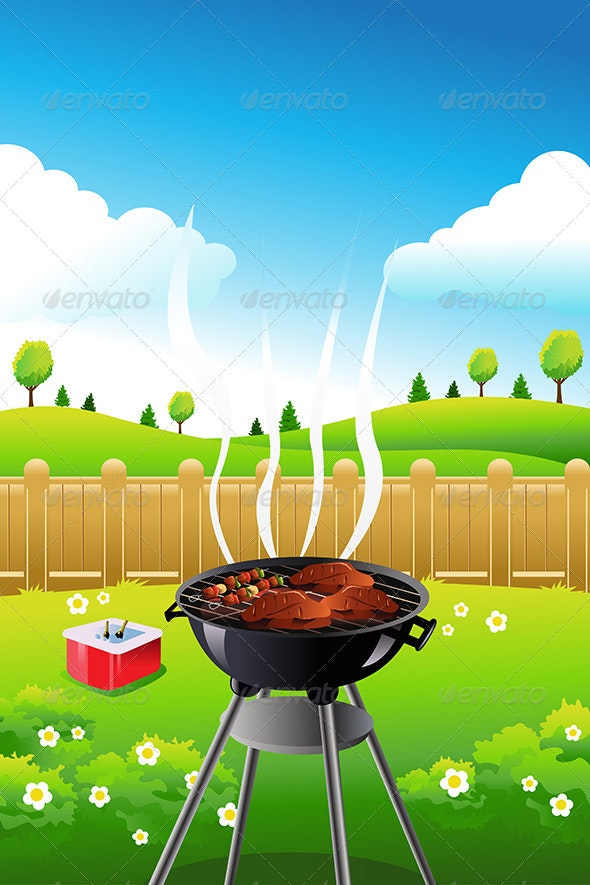 BBQ Background by artisticco GraphicRiver 590x885
