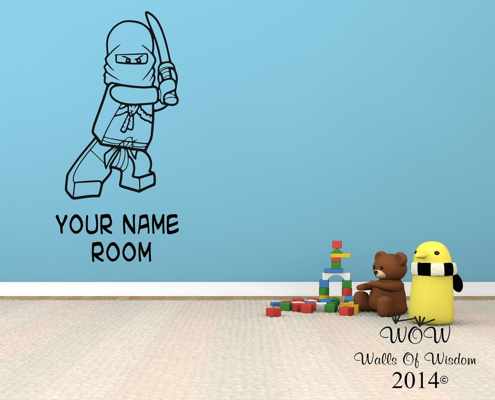 Lego Superhero Ninjago Childrens Bedroom Wall Sticker Wall Art Decal 1000x808