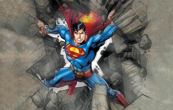 Wallpaper superman dc comics superhero clark kent kal el 596x380