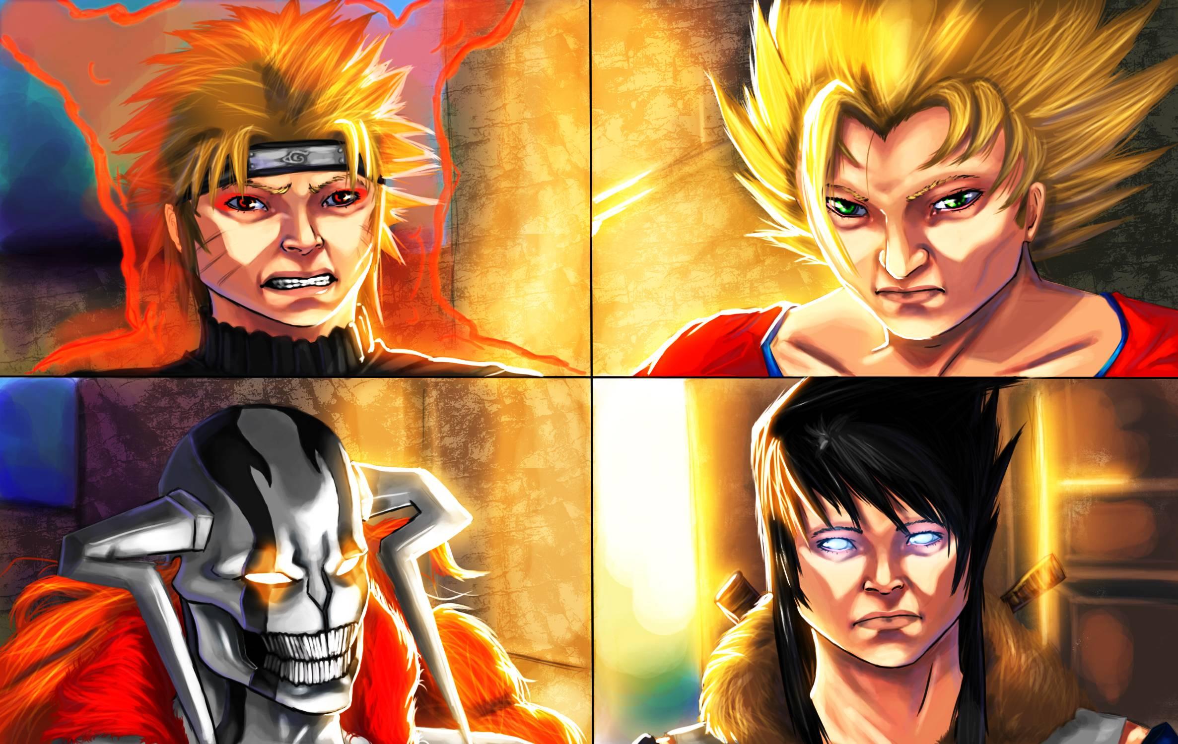 Goku And Naruto Wallpapers 2373x1500