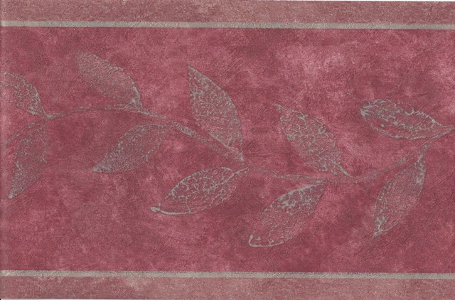 Burgundy Gold Leaves Wallpaper Border   Victorian Vintage 640x422