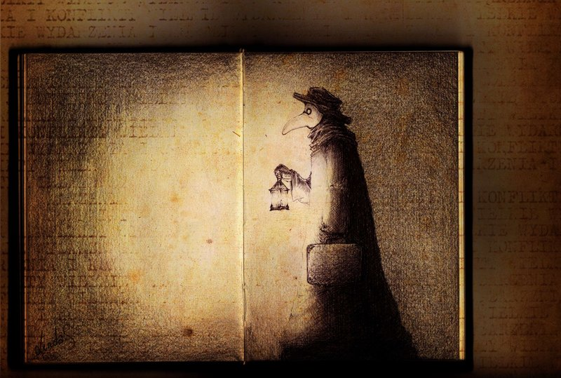 Book about Plague Doctor by MizuSasori 800x539