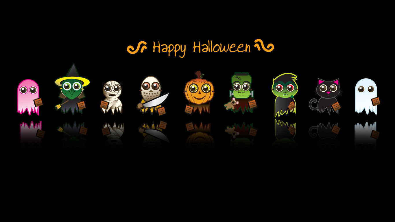 Download Happy Halloween wallpaper 1366x768