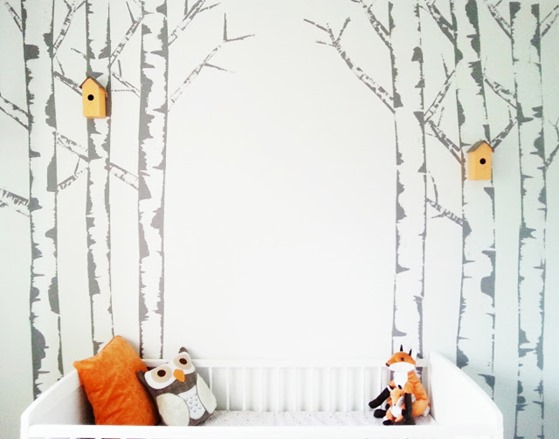Lindas creative method for painting birch trees at Make Do and DIY 559x439