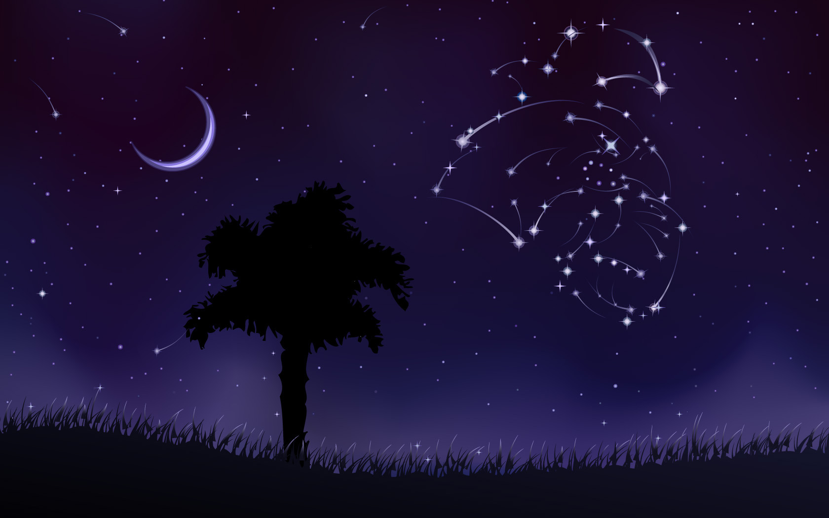 Constellations Background 1680x1050