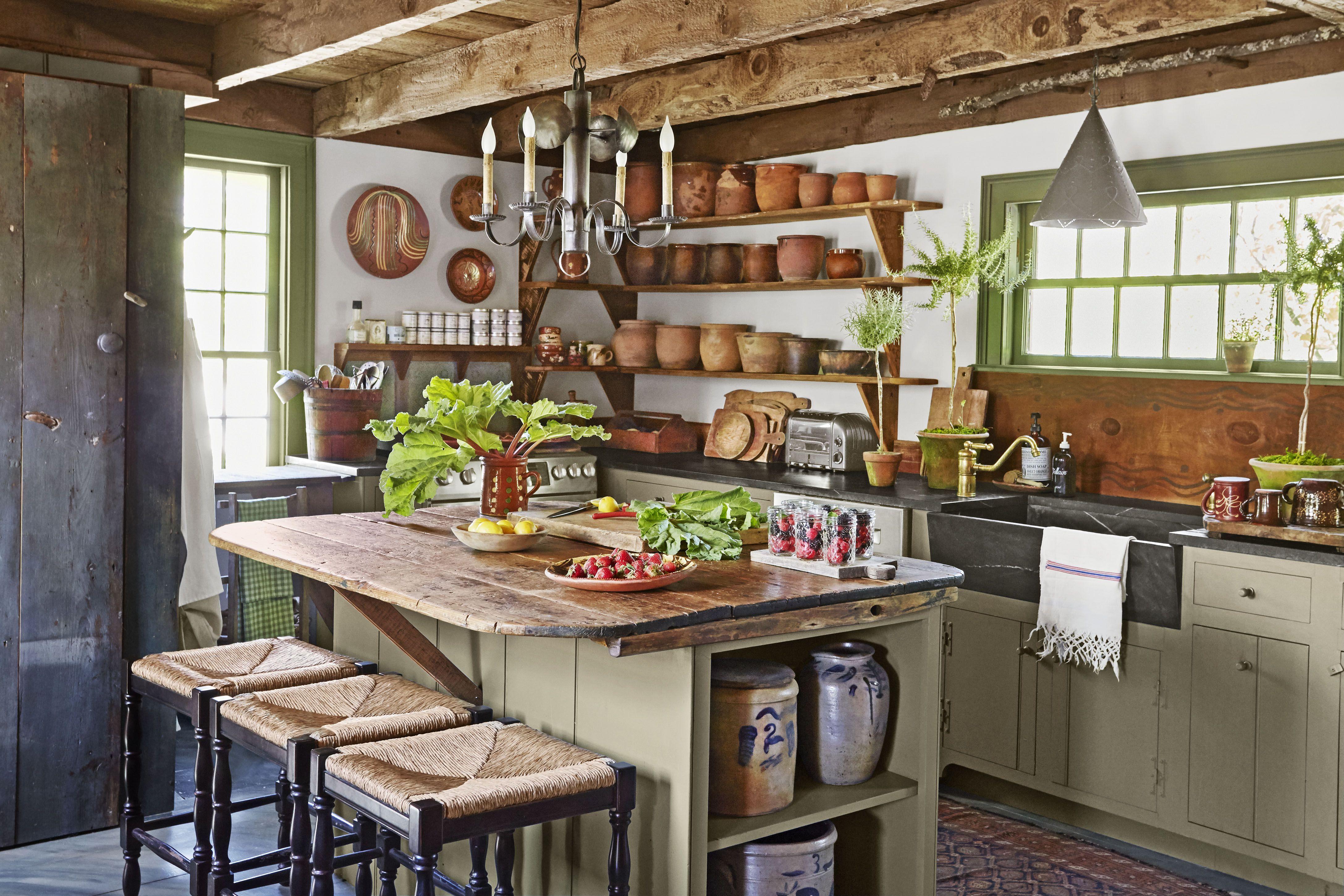 34 Farmhouse Style Kitchens   Rustic Decor Ideas for Kitchens 4350x2900