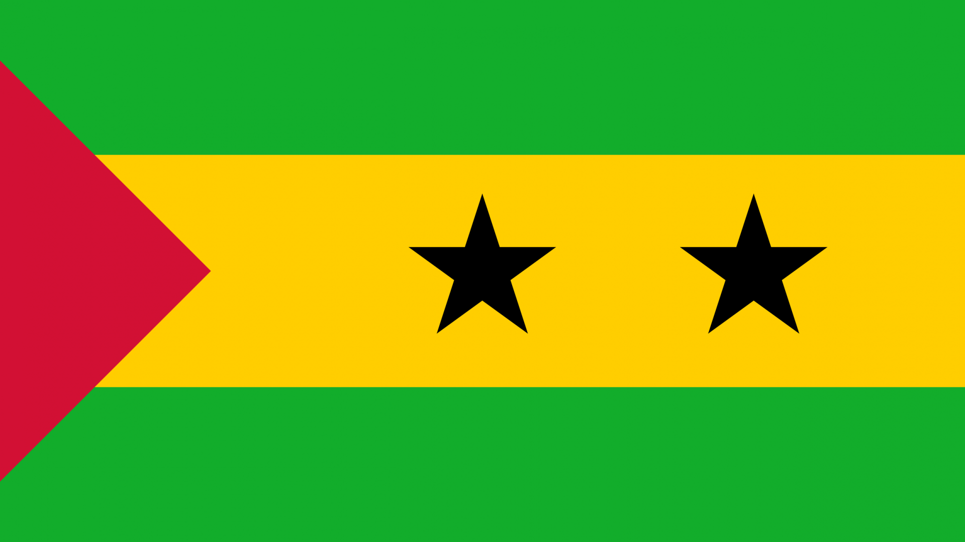 Sao Tome and Principe Flag   Wallpaper High Definition High Quality 1920x1080
