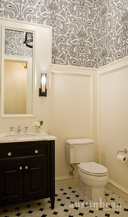 Free Download Black And White Damask Wallpaper Traditional