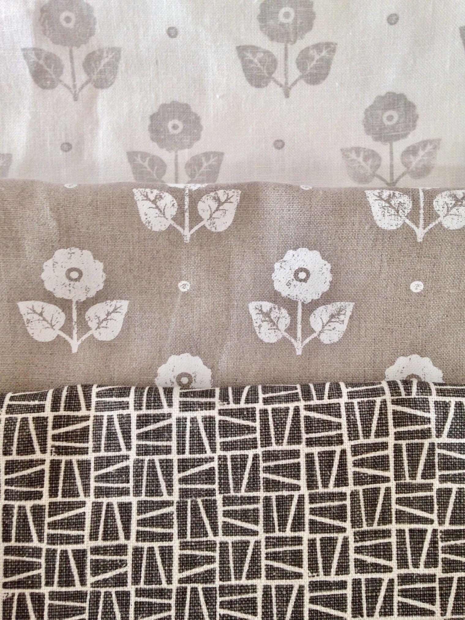 Hand silkscreened fabrics by Lindsay Alker wwwlindsayalkercom 1519x2025