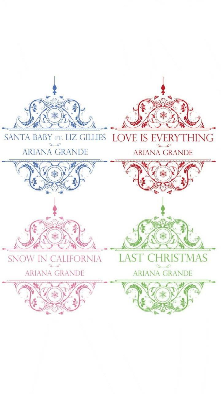 Ariana Grande Christmas Kisses Wallpaper on We Heart It 720x1280