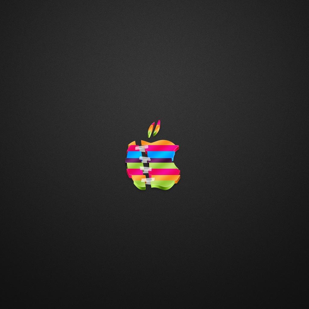 Apple Break Up Dark iPad Wallpaper Download iPhone Wallpapers iPad 1024x1024