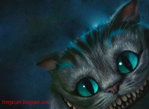 FreePCTaW Exclusives Tim Burtons Cheshire Cat Wallpapers 500x365