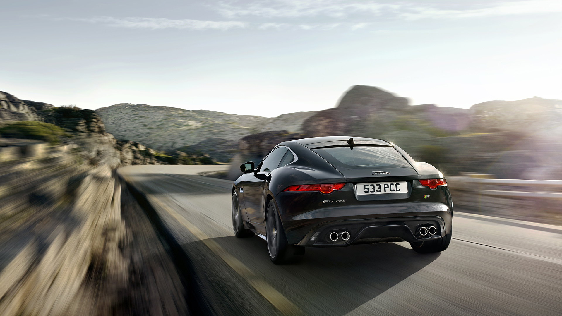 2015 Jaguar F Type R Coupe Rear Wallpaper   HD 1920x1080