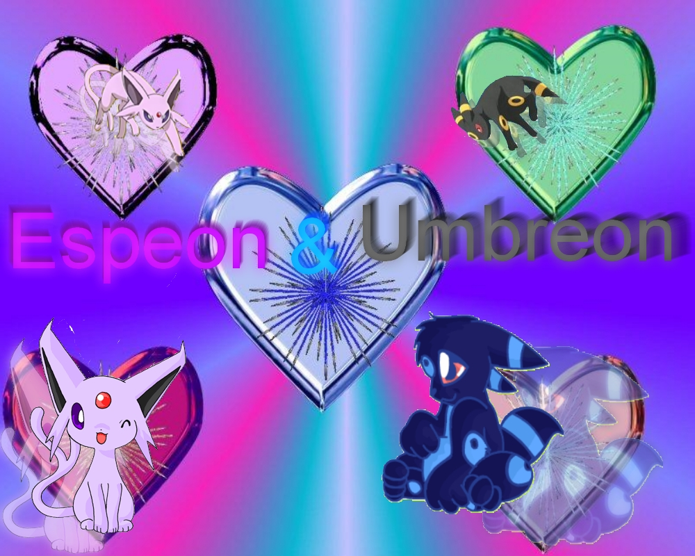 espeon and umbreon wallpaper by Meimi The Fox 1000x800