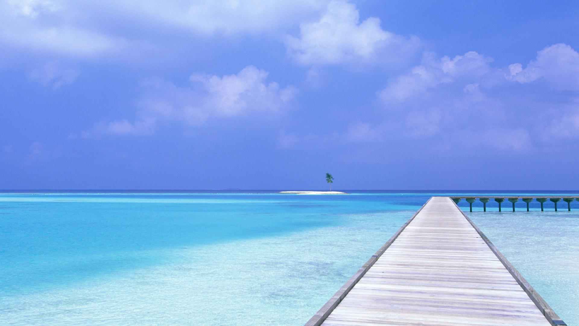 Pics Photos   Maldives Beach Hd Wallpaper For Desktop 1920x1080